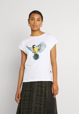 VISBY COLOR BIRD  - T-shirt print - white