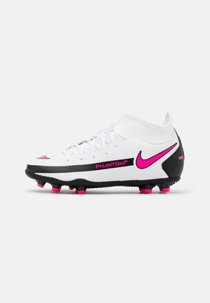 JR PHANTOM CLUB FG/MG UNISEX - Moulded stud football boots - white/pink blast/black