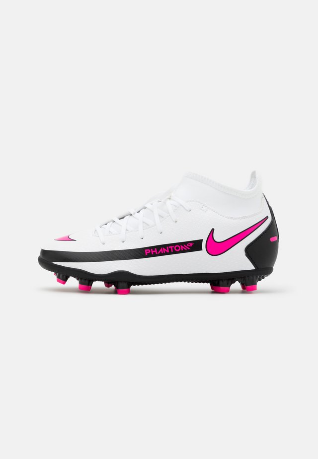 JR PHANTOM GT CLUB DF MG UNISEX - Fotbollsskor fasta dobbar - white/pink blast/black
