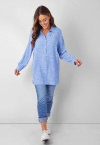 Live Unlimited London - Button-down blouse - blue - 0
