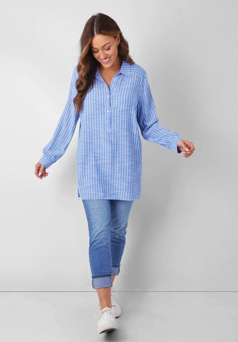 Live Unlimited London - Button-down blouse - blue