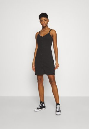 BUTTON THRU DRESS - Pouzdrové šaty - black