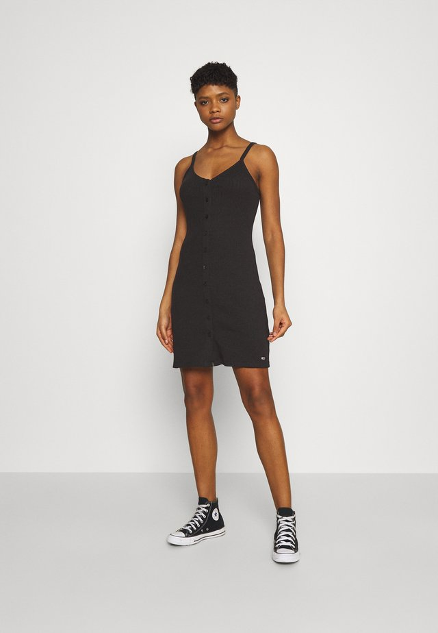 BUTTON THRU DRESS - Etui-jurk - black