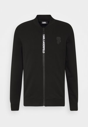 ZIP JACKET - Felpa aperta - black