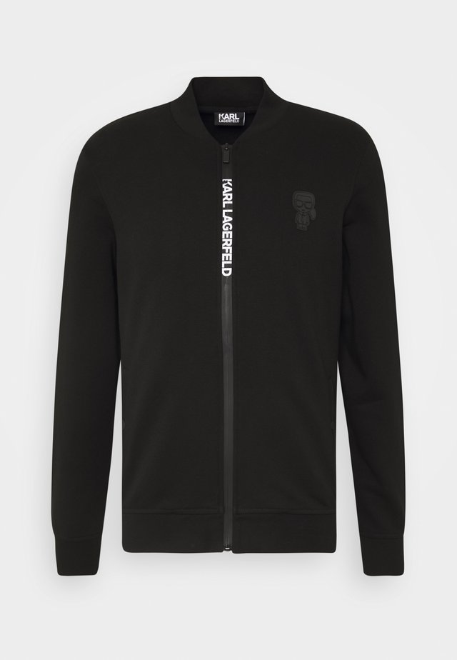 ZIP JACKET - veste en sweat zippée - black
