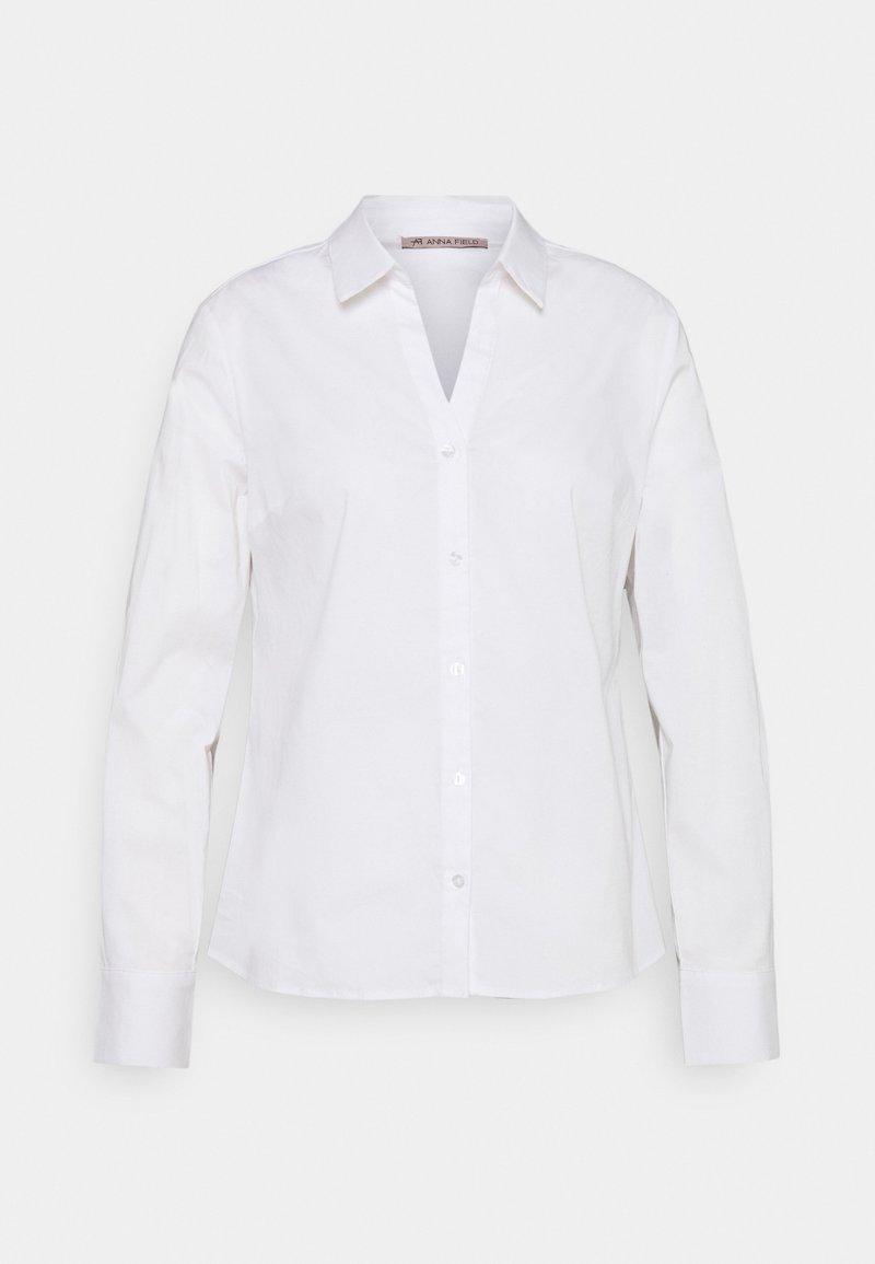 Anna Field - BASIC NOTCH NECK BLOUSE - Blouse - white