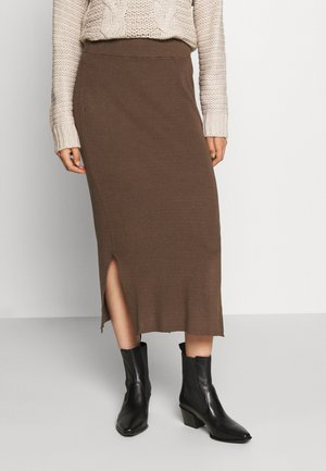 CELESTINA SKIRT - Pencil skirt - chocolate chip melange