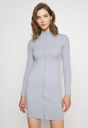 DOUBLE ZIP DRESS - Kotelomekko - grey