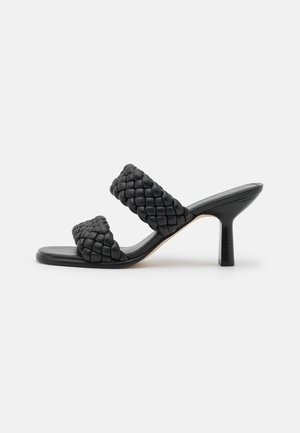 AMELIA MULE - Pantofle na podpatku - black