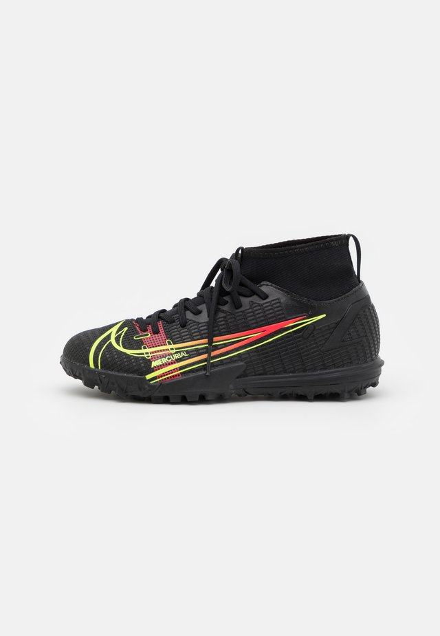 MERCURIAL 8 ACADEMY TF UNISEX - Chaussures de foot multicrampons - black/cyber/off noir