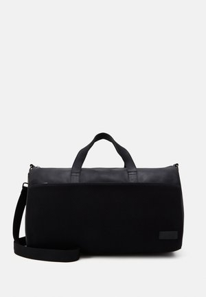 UNISEX LEATHER - Bolsa de fin de semana - black