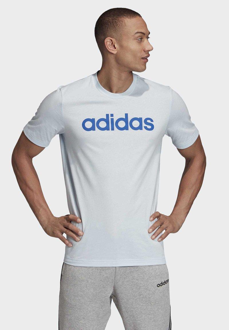 adidas Performance - ESSENTIALS LINEAR LOGO T-SHIRT - Print T-shirt - blue