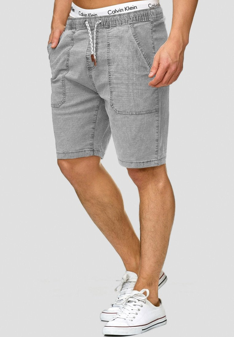 INDICODE JEANS - Shorts - light grey