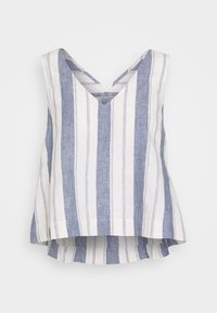 Madewell - SIDE TIE TANK STRIPE - Blouse - nice blue - 0