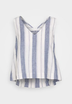 SIDE TIE TANK STRIPE - Blouse - nice blue