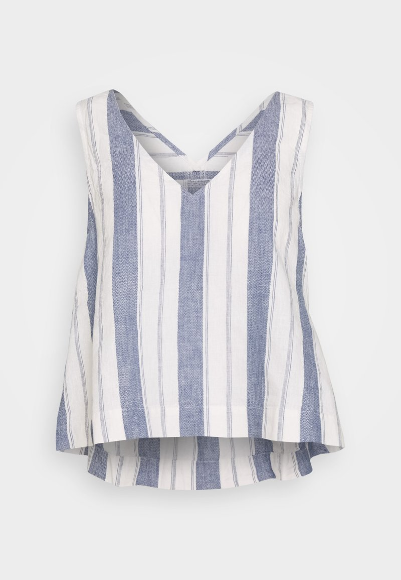 Madewell - SIDE TIE TANK STRIPE - Blouse - nice blue