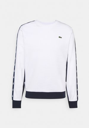 TAPERED - Sweatshirt - white/navy blue