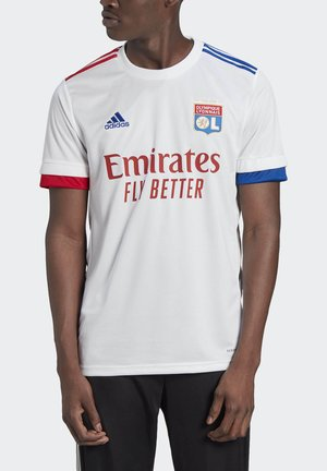 OLYMPIQUE LYON HOME JERSEY - T-shirt med print - white