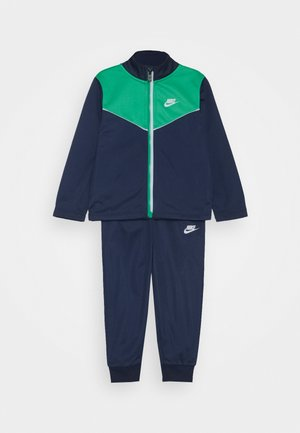 2 TONE ZIPPER TRICOT SET - Trainingspak - midnight navy