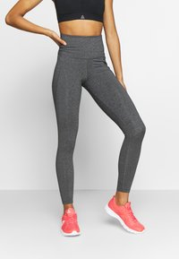 Reebok - LUX HIGHRISE - Tights - dark grey - 0
