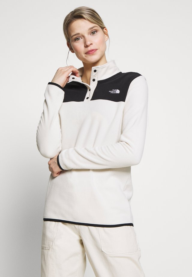 W TKA GLACIER SNAP-NECK PULLOVER - Fleece jumper - vintage white/black