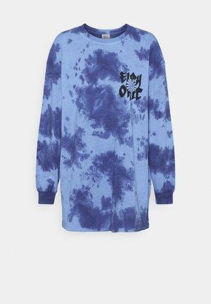 TIE DYE FLOWER - Long sleeved top - blue