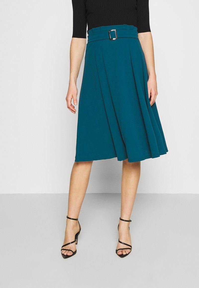 WAL G. - EMERSON MIDI SKIRT - A-line skirt - dark teal blue