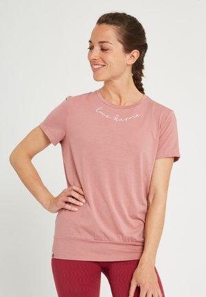 MANTRA - T-shirt print - ash rose