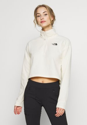 GLACIER CROPPED ZIP - Fleece jumper - vintage white
