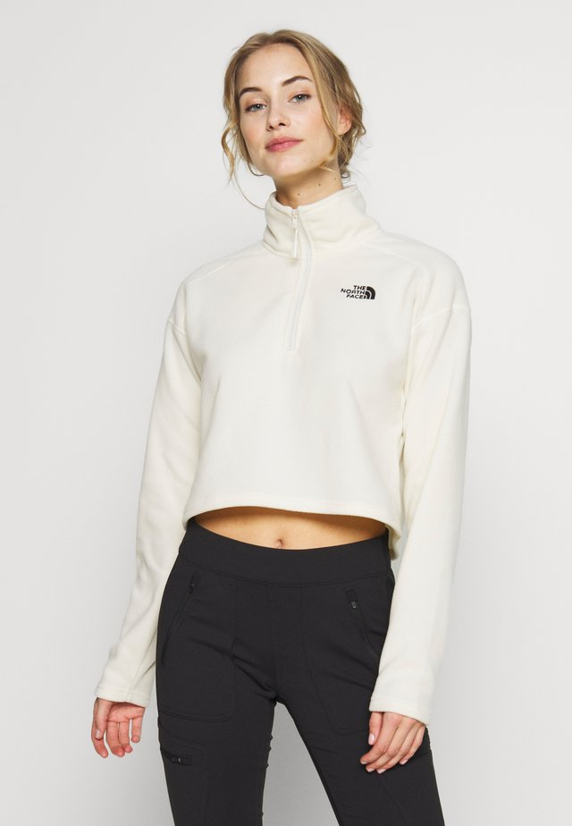 GLACIER CROPPED ZIP - Fleecetröja - vintage white