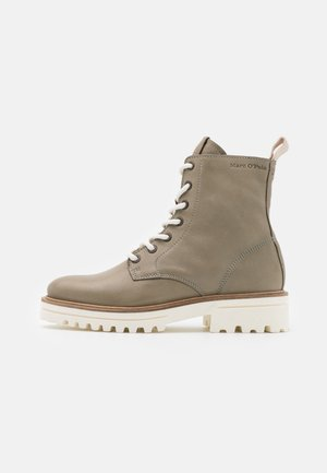LICIA  - Lace-up ankle boots - light oliv