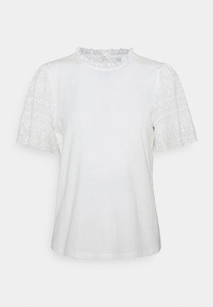VISELVA - T-shirt con stampa - cloud dancer