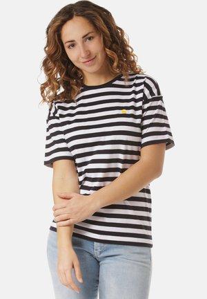Print T-shirt - scotty stripe, dark navy / white stripe