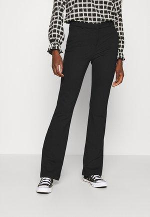 ONLELORA VIKA FLARE PANT - Spodnie materiałowe - black