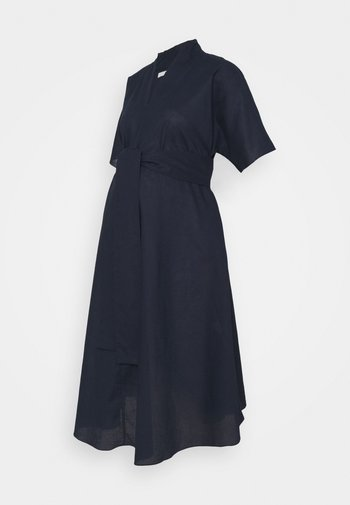 BOW MIDI DRESS - Day dress - navy