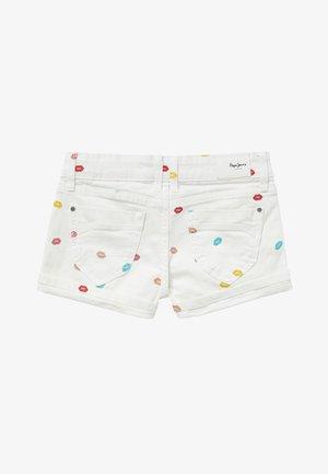 FOXTAIL KISS - Denim shorts - blanco