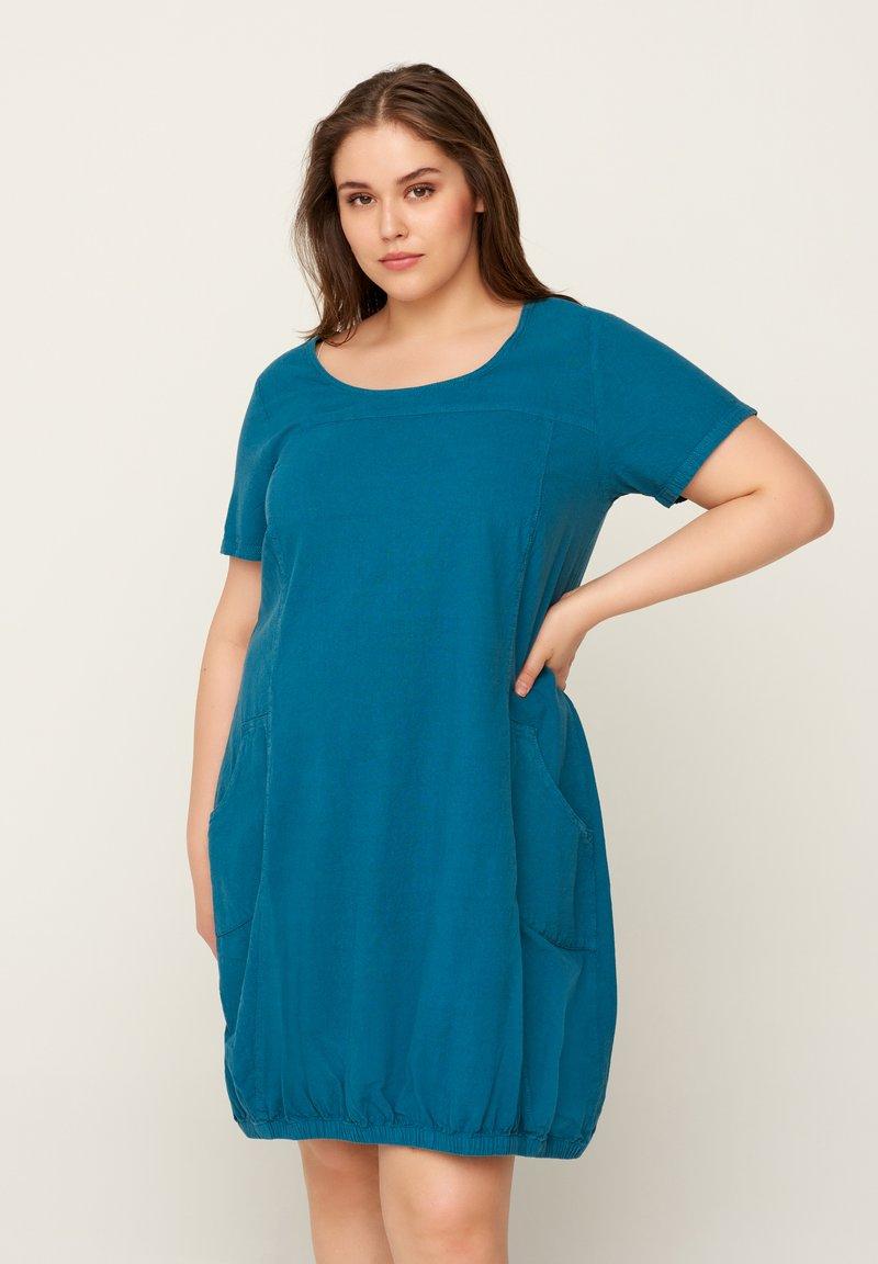 Zizzi - JHELLE - Shirt dress - petrol
