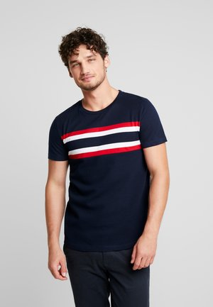 WITH STRIPEMIX - T-shirt imprimé - sky captain blue