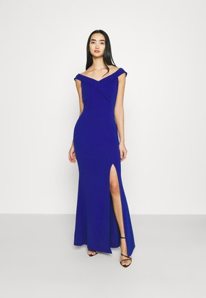 ARIAH OFF THE SHOULDER MAXI DRESS - Vestido de fiesta - electric blue