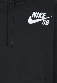 Nike SB - ICON HOODIE UNISEX - Luvtröja - black/white - 5