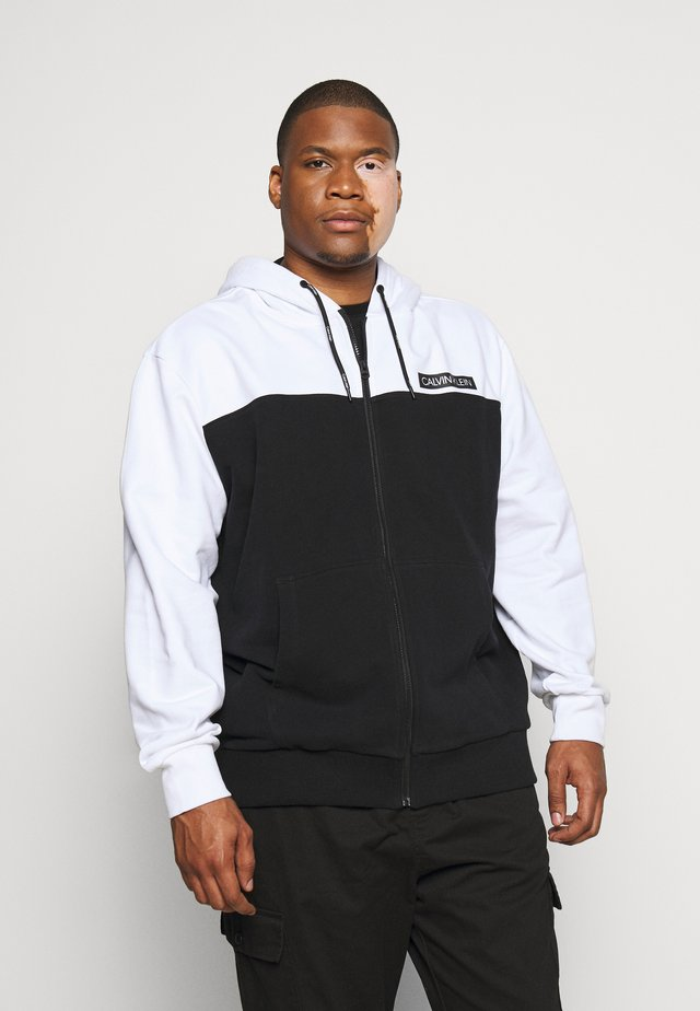 COLOR BLOCK ZIP HOODIE - Hettejakke - black