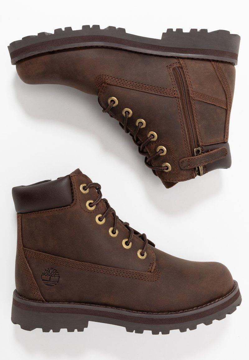 Timberland - COURMA TRADITIONAL - Šněrovací kotníkové boty - dark brown