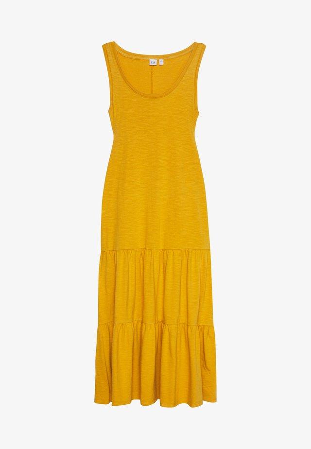 TIERED - Maxi dress - gelded gold
