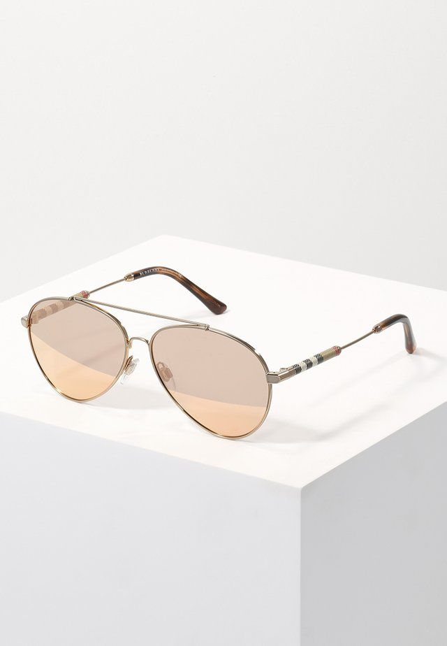 Lunettes de soleil - gold/brown mirror rose gold