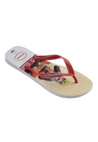Havaianas - TOP NARUTO - Pool shoes - white, red - 1