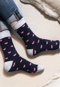 Natural Vibes - FUCHSSOCKEN AUS BIOBAUMWOLLE - Socks - navy / pink - 1