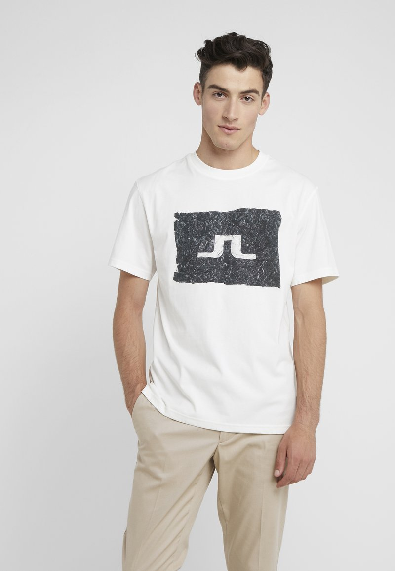 J.LINDEBERG - JORDAN DISTINCT  - Print T-shirt - white/black