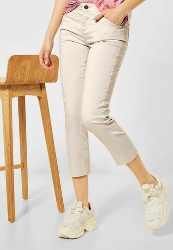 FIT HOSE IN 7/8 LÄNGE - Slim fit jeans - beige