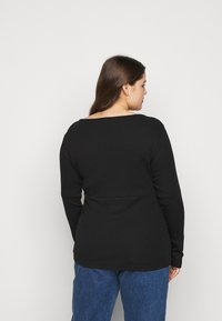 Anna Field Curvy - Long sleeved top - black - 2
