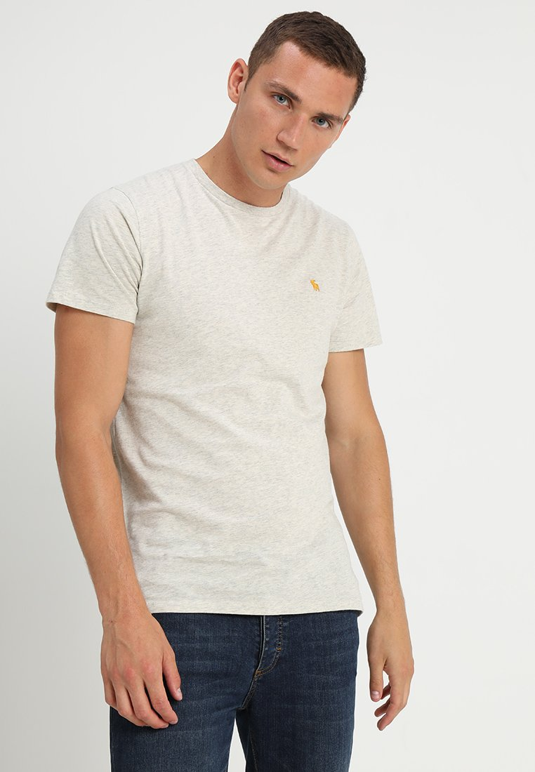 Abercrombie & Fitch 3 PACK - T-shirts - blue/white/grey